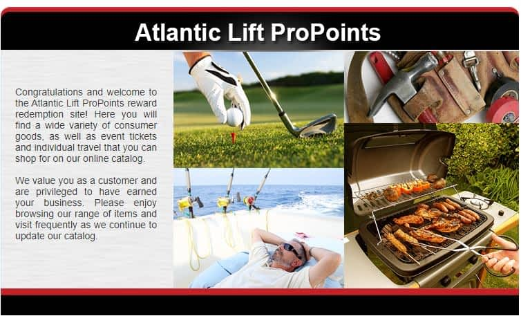 Atlantic Lift Systems Propoints Rewards